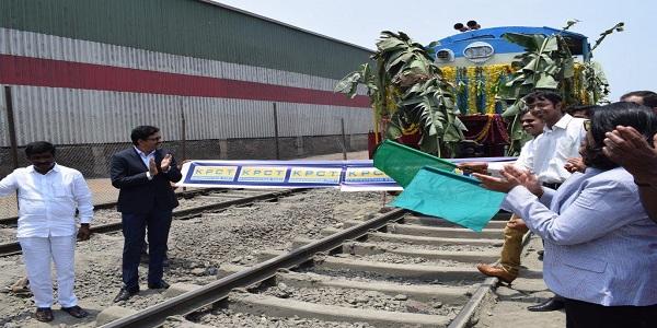 Krishnapatnam & CONCOR launches new rail service to Central India