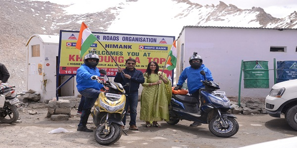 Okinawa becomes the first E2W brand to complete a successful trip to Leh from Gurgaon