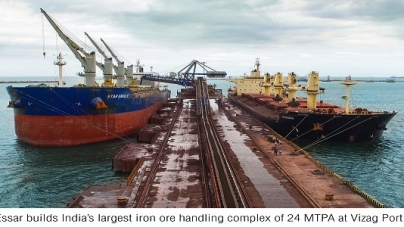 Essar builds India's largest iron ore handling complex at Vizag Port
