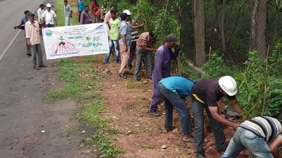 "Gangavaram Port plants 2500 saplings under ""Vanam-Manam"" program"