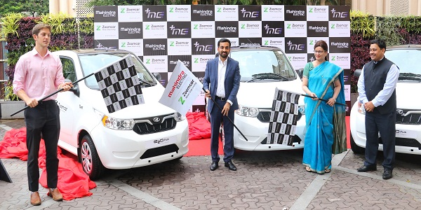 Mahindra e2oPlus to be available for self-drive and ZAP Subscribe on Zoomcar