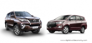Enhanced Innova Crysta, Touring Sport and Fortuner Launched by Toyota Kirloskar Motor