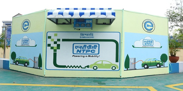 First Electric Vehicle Charging Station in Simhadri by NTPC