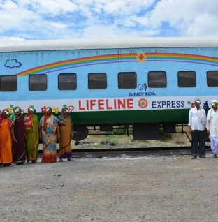 World's First Hospital Train, The Lifeline Express Is at The Badarpur Station, India